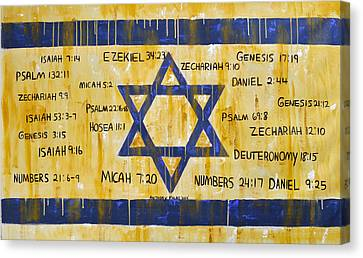 Gods Love For Israel Canvas Print by Anthony Falbo