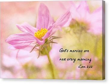 Close Focus Floral Canvas Print - God's Mercies by Mary Jo Allen