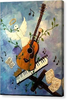 God's Music Canvas Print by Suzanne Brabham