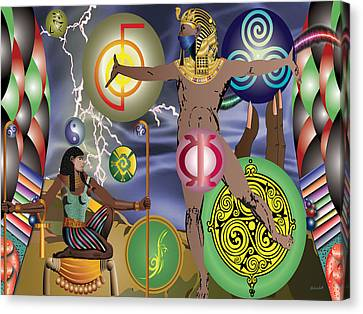 Gods Of Energy Canvas Print