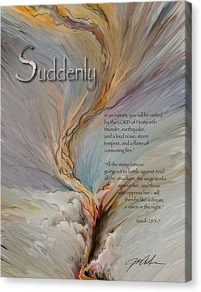 God's Suddenlies Canvas Print by Ron Cantrell
