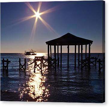 God's Sun Flower At Sea Canvas Print by Brian Wright