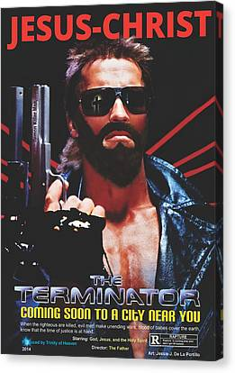 God's Terminator Canvas Print by Jessie J De La Portillo
