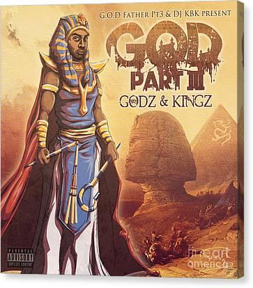 Godz And Kingz Canvas Print by Tuan HollaBack