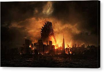 Godzilla 2014 B Canvas Print