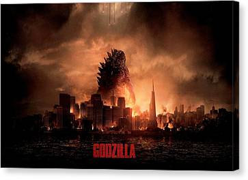 Godzilla 2014 Canvas Print by Movie Poster Prints