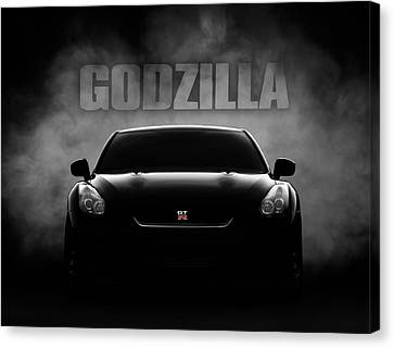 Godzilla Canvas Print by Douglas Pittman
