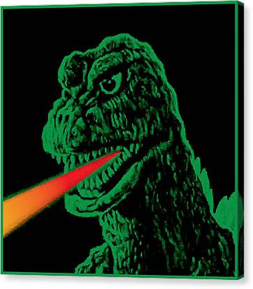 Godzilla Canvas Print by Gary Grayson