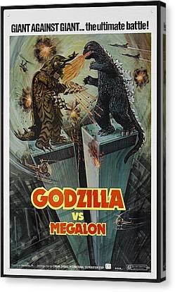 Godzilla Vs Megalon Poster Canvas Print by Gianfranco Weiss