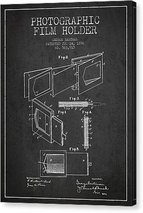 George Eastman Film Holder Patent From 1896 - Dark Canvas Print by Aged Pixel