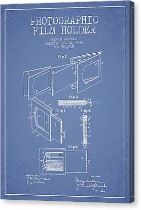 George Eastman Film Holder Patent From 1896 - Light Blue Canvas Print