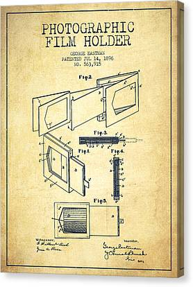 George Eastman Film Holder Patent From 1896 - Vintage Canvas Print