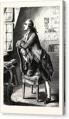 Goethe At Home. Johann Wolfgang Von Goethe 28 August 1749 Canvas Print by English School