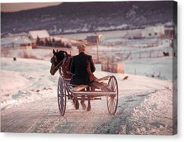 Going Down The Road Canvas Print by Douglas Pike