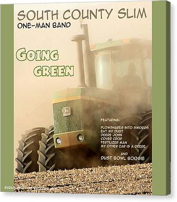 Going Green - South County Slim Canvas Print by Everett Bowers