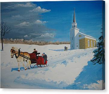Going Home From Church Canvas Print by Norm Starks