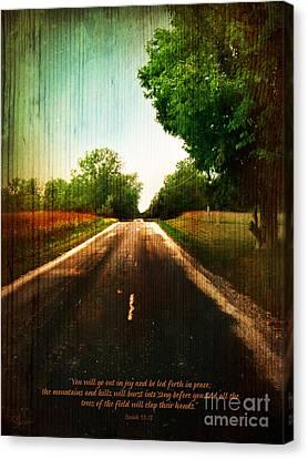 Going Home - Verse Canvas Print by Shevon Johnson
