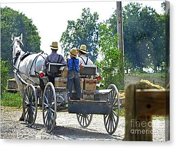 Going To Market Canvas Print by Paul Mashburn