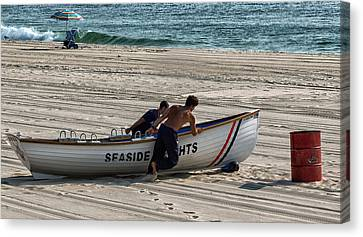 Going To Seaside Heights Canvas Print by John Hoey