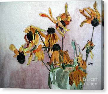 Going To Seed Canvas Print by Sandy McIntire