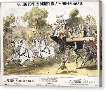 Going To The Derby, 1870 Song Canvas Print by British Library