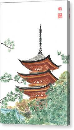 Gojunoto Pagoda Canvas Print