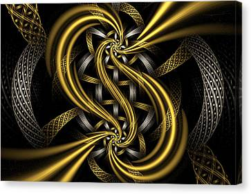 Gold And Silver Canvas Print by Sandy Keeton