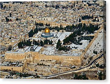 Gold And White In Jerusalem. Canvas Print by Arik Baltinester