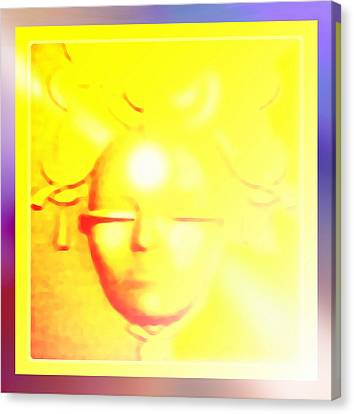 Gold Angel Canvas Print by Hartmut Jager