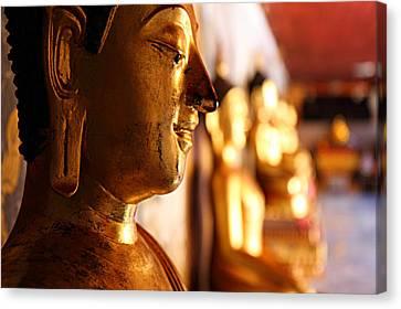 Budda Canvas Print - Gold Buddha At Wat Phrathat Doi Suthep by Metro DC Photography