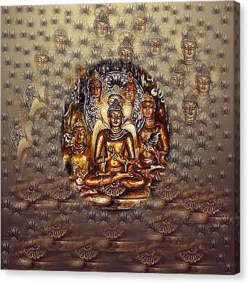 Gold Buddha Canvas Print