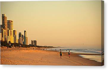Canvas Print featuring the photograph Gold Coast Beach by Eric Tressler
