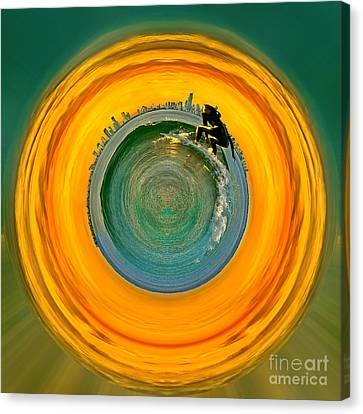 Gold Coast Surfer Circagraph Canvas Print by Az Jackson