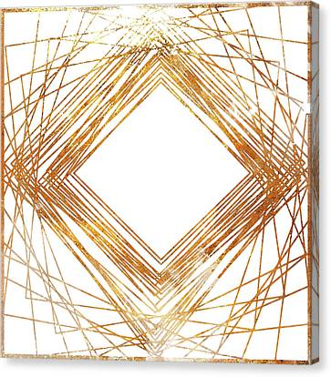 Gold Diamond Canvas Print by South Social Studio