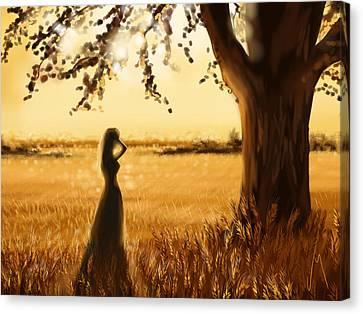 Gold Field Canvas Print by Veronica Minozzi