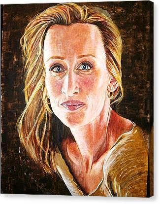 Gold Girl Canvas Print by Linda Vaughon