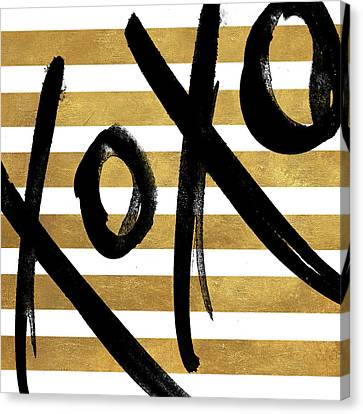 Gold Glam Xoxo Canvas Print by South Social Studio
