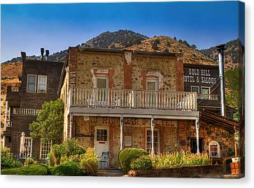 Gold Hill Hotel And Saloon Canvas Print by Donna Kennedy