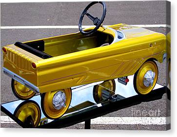 Gold Kiddie Car Canvas Print by Mary Deal