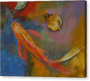 Gold Leaf Canvas Print by Michael Creese
