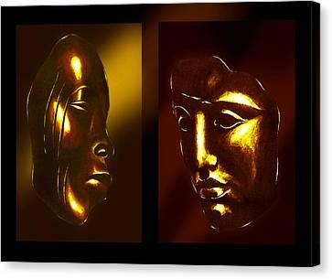 Gold Masks Canvas Print by Hartmut Jager