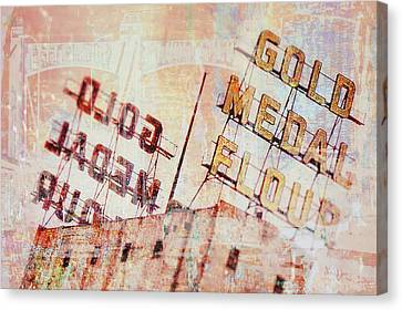 Gold Medal Flour  Canvas Print by Susan Stone
