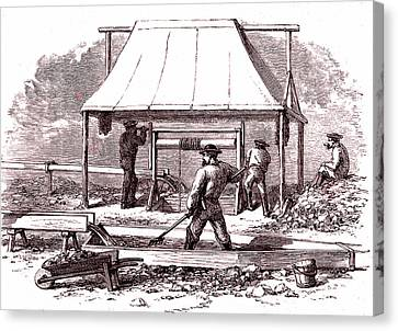 Prospector Canvas Print - Gold Miners by Collection Abecasis