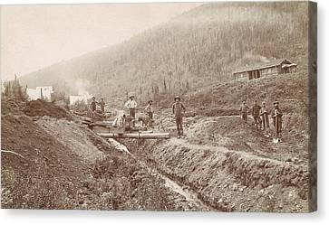 Gold Mining In California Canvas Print by Library Of Congress