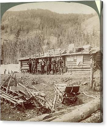 Gold Mining The Klondike Canvas Print by Granger