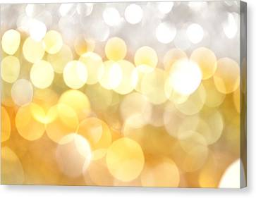 Gold On The Ceiling Canvas Print by Dazzle Zazz