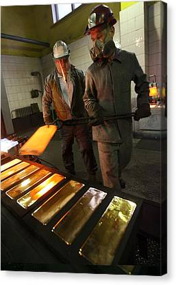 Gold Refinery Canvas Print by Science Photo Library