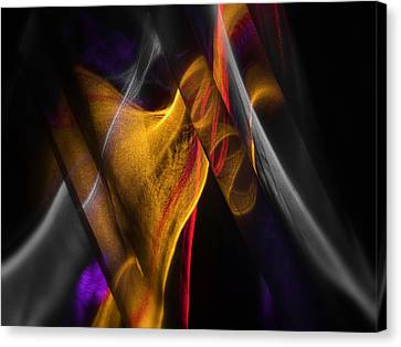 Gold Ribbon Canvas Print by Dennis James