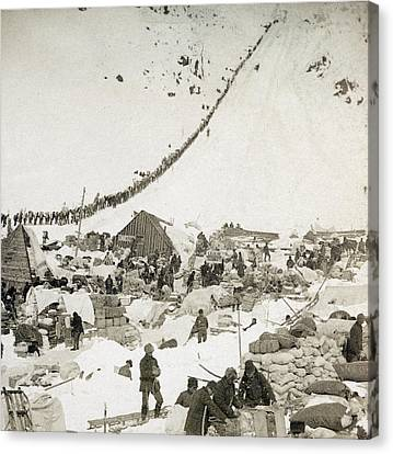 Gold Rush The Klondike Canvas Print by Granger