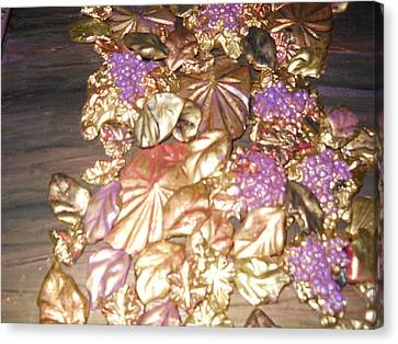 Gold Seashell Relief Canvas Print by Suzanne Thomas